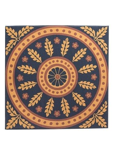 Warm Design Kare Vintage Duvar Dekoru Renkli